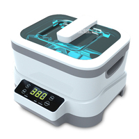 JP 1200 Digital Ultrasonic Cleaner Baskets Jewelery Watches Dental 1.2L Ultrasound Vegetable Cleaner strong 75W, weak 40W