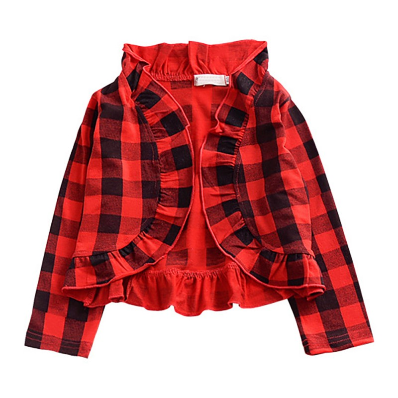 Hot Children Lattice Coat Jacket Girls Outwear Casual Hooded Coats Girls Jackets School 12M-3Y Baby Kids Cardigan Blouse Spring