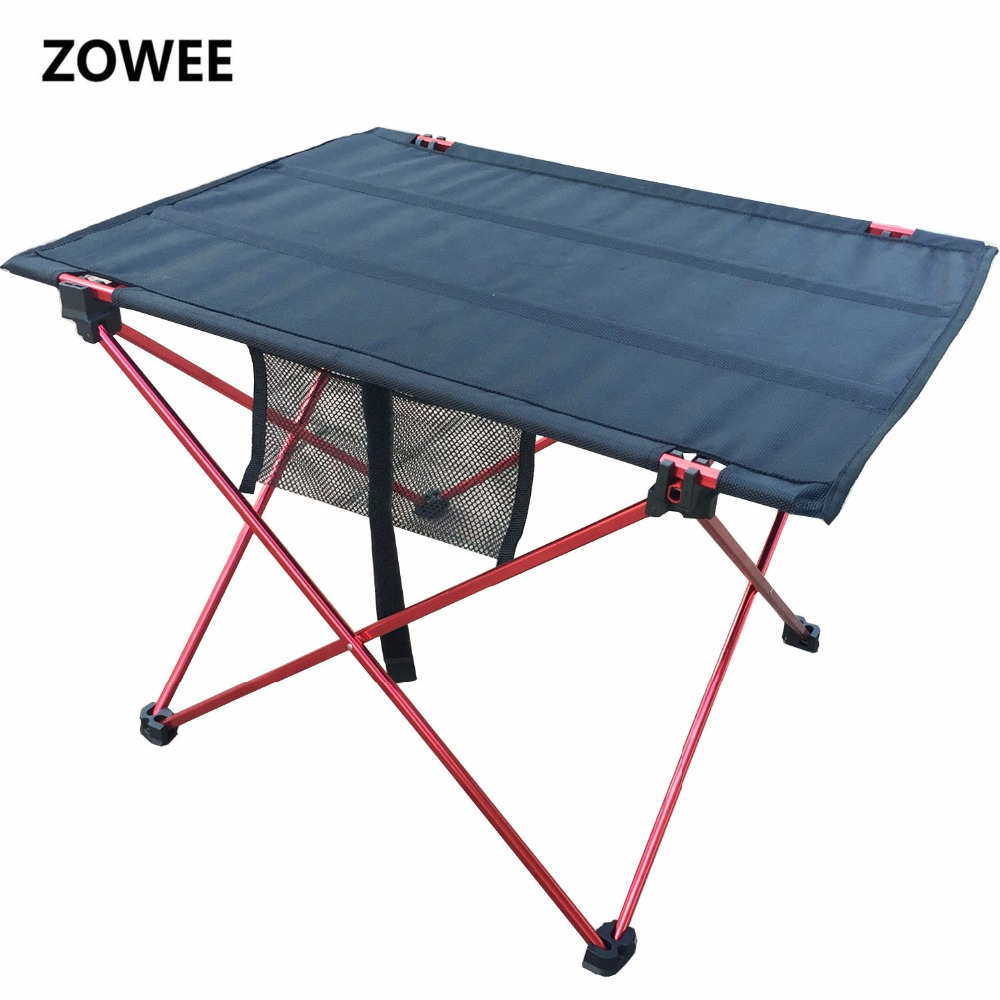 Outdoor Picnic Table Camping Aluminium Alloy Picnic Table Waterproof Ultra-light Durable Folding Table Desk For Picnic& Camping