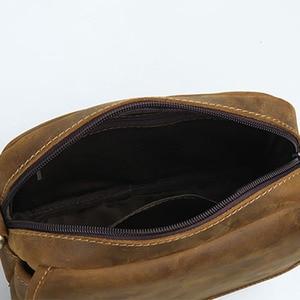 Image 4 - AETOO bandolera de cuero de vaca para hombre, bolso informal, estilo japonés