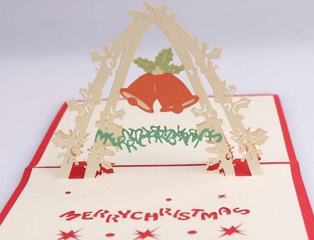 10pcs 3D Christmas Bells Handmade Kirigami Origami For Merry