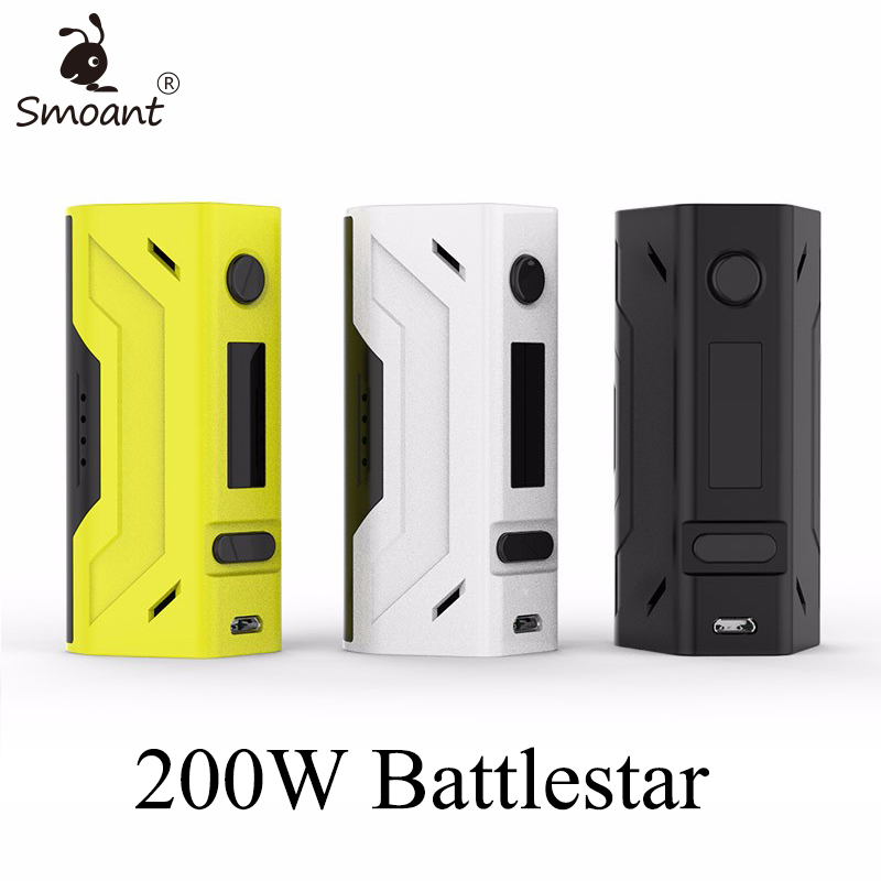 Smoant Battlestar 200W TC Mod Electronic Cigarette Mods Vaporizer E Cigarette Vape Mech Box Mod for