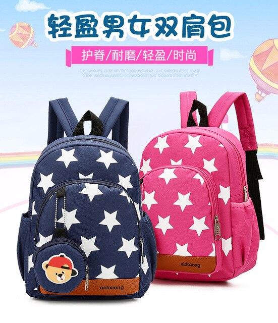 Kids School Backpack Child School Bags For Kindergarten Boys Nursery Baby  Student book bag mochila infantil 01b4022043b5a