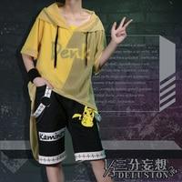 Anime! Boku no Hero Academia Kaminari Denki Gothic Uniform Cosplay Costume Fashion Trend Leisure Daily Suit Free Shipping