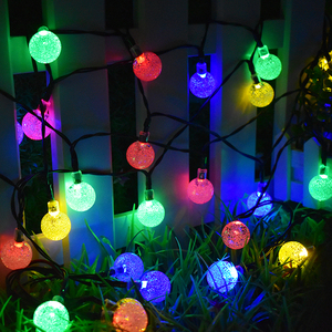 Image 1 - 30 LED ソーラーストリングライト屋外クリスタルボール照明クリスマスツリーのため、庭、パティオ、結婚式や休日の装飾