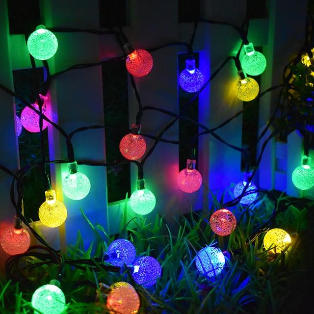 30 LED ソーラーストリングライト屋外クリスタルボール照明クリスマスツリーのため、庭、パティオ、結婚式や休日の装飾