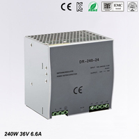 240w 36v 6.6a din rail model ce approved 240w DR 240 36 power supply rail din 36v with wide range input high quality