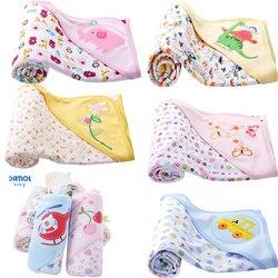 Danrol random delivery 70 75cm newborn baby boy girl cute cartoon cotton double sided blankets bath.jpg 250x250