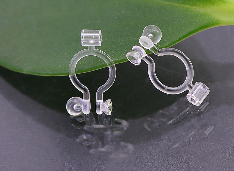 3 Pairs INVISIBLE CLIP-ON EARRINGS findings post converter or DIY