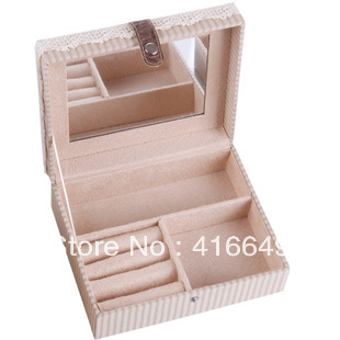Freeshipping High quality Fashion Imitation Rabbit style Jewelry Box For Cute Girls Jewelry Carrying Case Wholesale