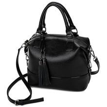 Bolsos Mujer 2016 Boston Fashion Genuine Leather Bags Handbags Women Famous Brands Shoulder Bags Designer Fringe Tassel Tote Bag