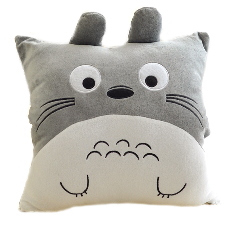 40*40cm Totoro Plush Pillow&Hands Warmer Toys Cartoon Stuffed Animals My Neighbor Totoro Plush Cushions Kids Toys Girls Gifts