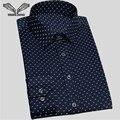 2017 chegada nova camisas dos homens vestido de business casual masculina camisa de manga comprida moda slim de algodão marca clothing n961 chemise homme