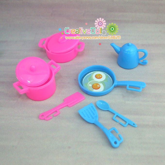 Humorous toys for child women play home toys plastic kitchenware For Barbie doll for kelly doll
