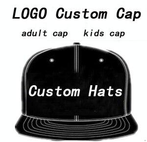 Image 1 - גברים כובע בייסבול כובעי לוגו רקמת Snapback כובע מותאם אישית כובעי היפ הופ Mujer עצם Streetwear Masculino סיטונאי