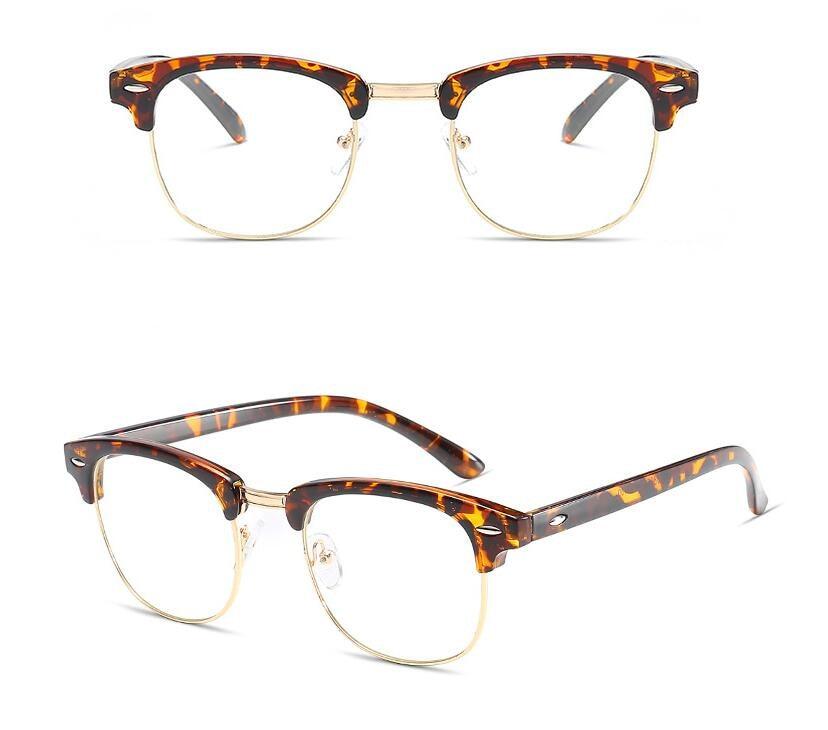 Vintage Metal Half Rimless Tortoise Eyeglass Frames Men\'s Women Rx ...