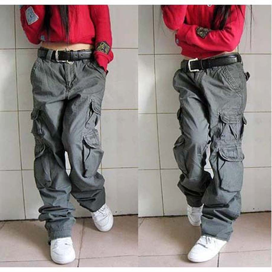 Male and Female Couples Trousers Autumn Winter Women Cargo Pants Mens Joggers Brands Hip Hop Harem