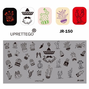 Image 5 - 2019 Stainless Steel Stamping Plate Template Russian Phrase Poker Vintage Flower Cactus Mexico Music Notes Nail Tool JR141 150