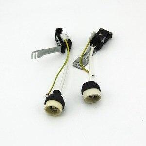 2 шт./лот, керамический адаптер GU10 с гнездом, разъем для провода, фарфоровая галогенная лампа GU10, держатель для лампы, держатель для светодиодной лампы
