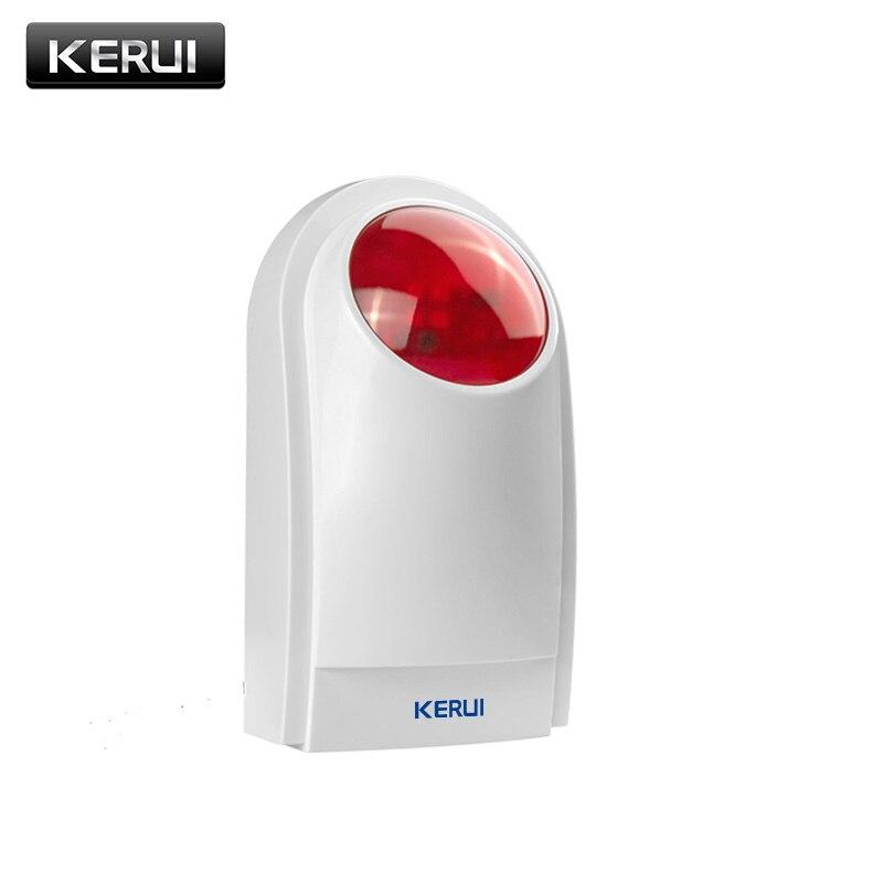 KERUI J008 inalámbrica al aire libre Flash externo LED luz estroboscópica sirena para GSM PSTN seguridad voz sistema de alarma antirrobo