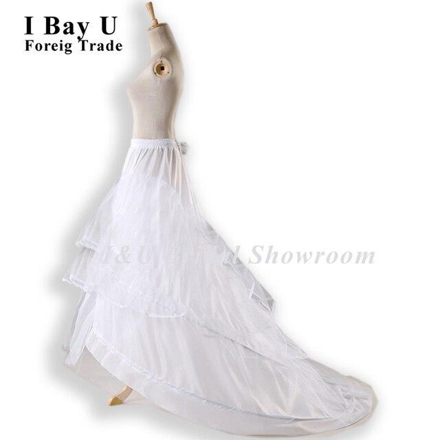 Hoop ball gown wedding dress 2016 summer crinoline for Plus size wedding dress petticoat