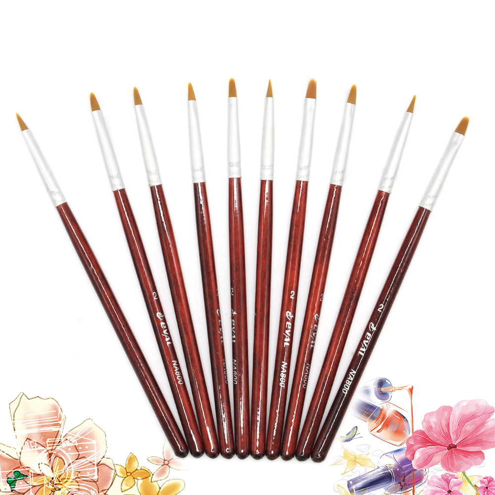 Professional 1PC Red Color UV Gel Non-corroding Drawing Pen Nail Art Brush For Manicure DIY Tool Gradient Oval Painting Brush