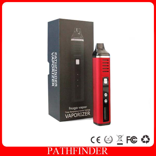original Hugo Vapor 2200mAh Pathfinder V2 Dry Herb Wax Kit Vape Pen mod electronic cigarette met