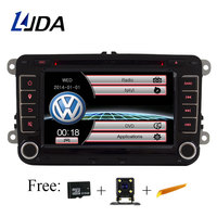 LJDA 2 Din 7 дюймов dvd плеер автомобиля для VW Golf/6 Гольф 5 Passat b7/cc/ b6/SEAT leon/Tiguan/Skoda Octavia мультимедиа gps Радио Canbus