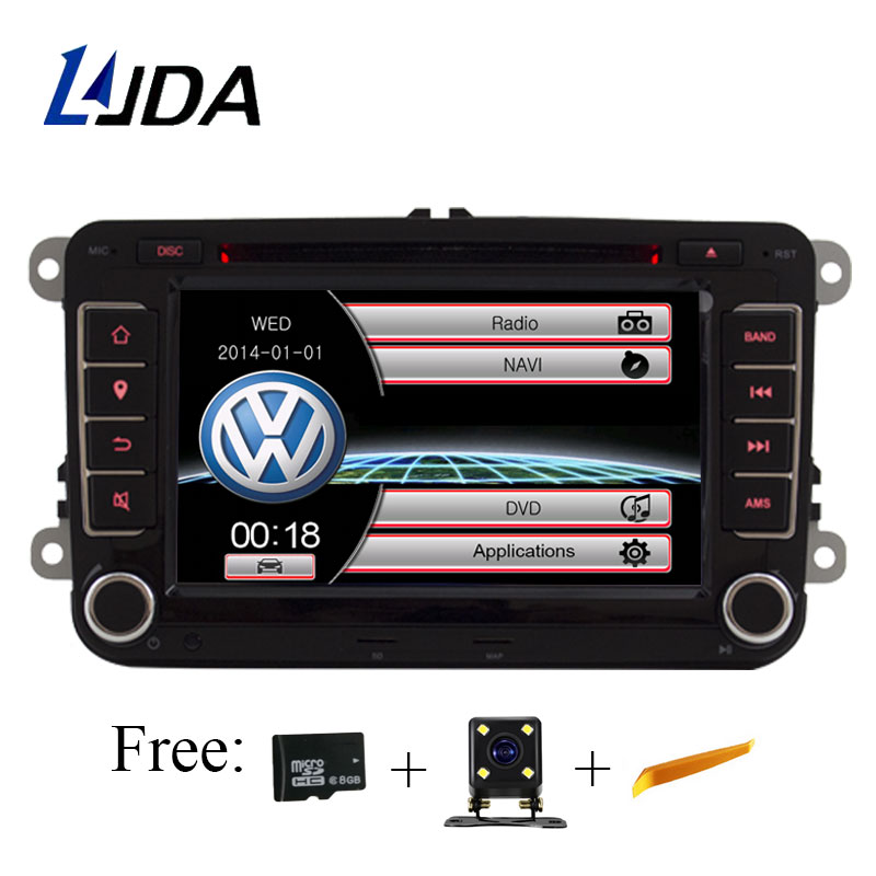 LJDA 2 Din 7 Inch Car DVD Player for VW Golf/6 Golf 5 Passat b7/cc/b6/SEAT leon/Tiguan/Skoda Octavia Multimedia GPS Radio Canbus внешний pm2 5 volkswagen golf кондиционер воздушный фильтр 6 7 sagitar magotan cc octavia нового tiguan новый passat