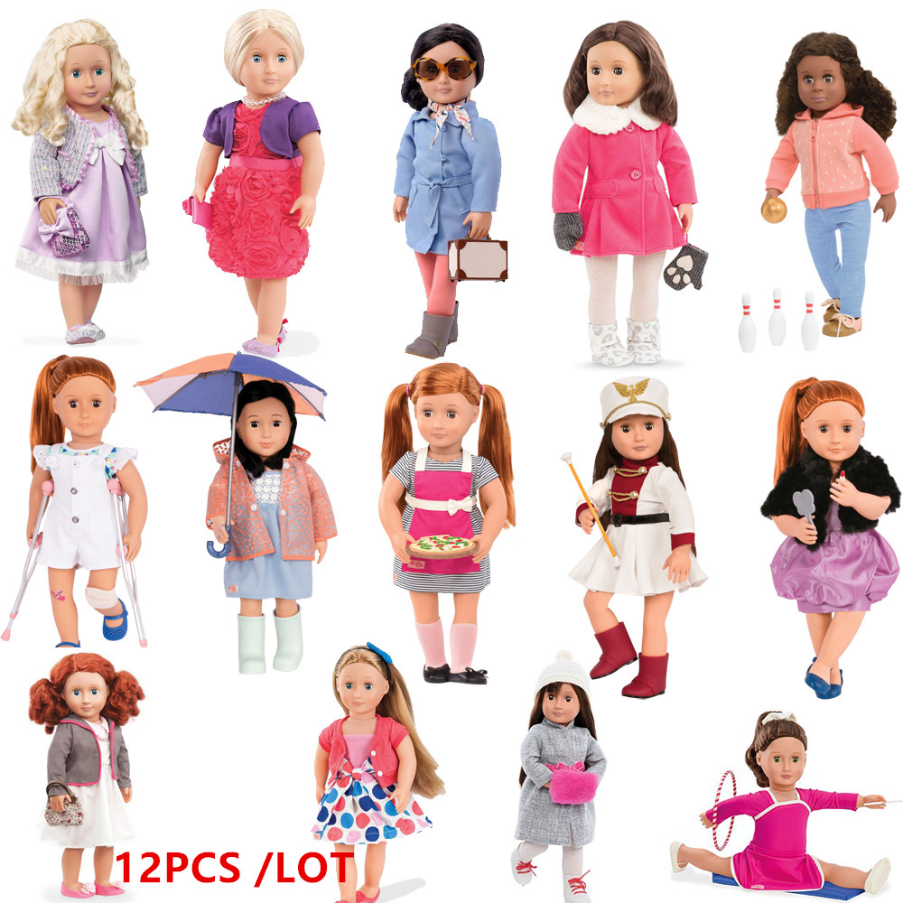 Doll Clothes 12pcs /LOT Our Generation Deluxe Fashions Different Outfits For Any 43cm 45cm Baby Doll American Girl Doll american girl doll clothes 5 sets different high quality outfits include doll accessories fit american girl doll our generation