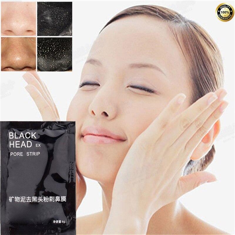 1 Stücke = 6g Schönheitspflege Gesichtspflege Reinigenauflage-gesichts-nasekräuterblackhead-remover-maske Entferner Gesichtsmaske Porenstreifen Gesichts Minerals Nase Schwarze Kopfmaske