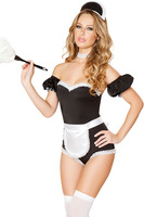 Darling French Maid Costume halloween costumes for women babydoll teddy erotic lingerie sexy cosplay uniform lingerie Hot