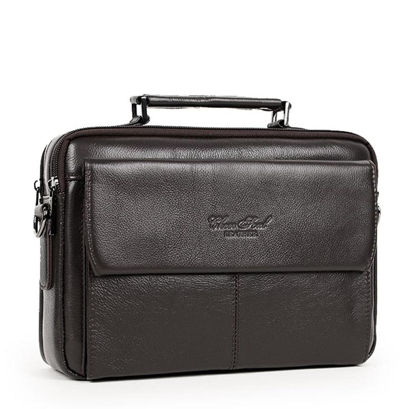 100% genuine leather messenger bags for men small crossbody Famous brand men fashion casual shoulder bag male handbags