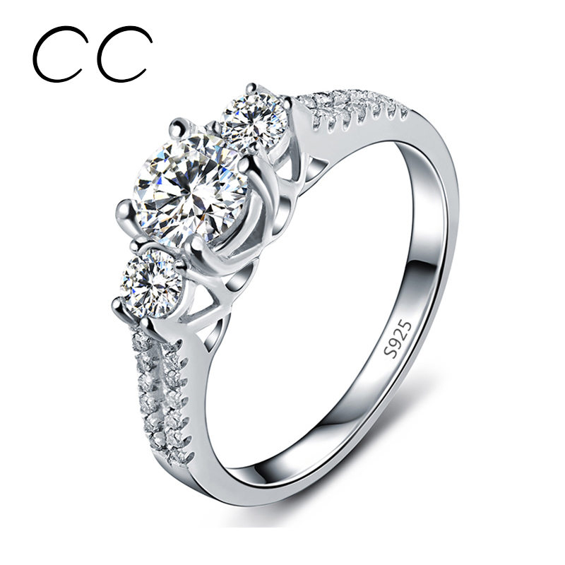 Fashion jewelry White Gold Platinum Plated Wedding Engagement Rings for  Women Vintage Jewelry Anelli Joyeria For