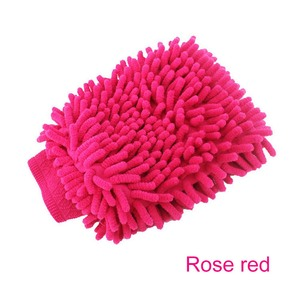 Image 4 - 1pc Auto Wassen Handschoenen Wateropname Handdoek Microfiber spons Handdoek Coral Chenille Zachte Auto Schoonmaken Tool