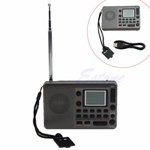 OOTDTY New 2017 arrival Portable Digital Tuning LCD Receiver TF MP3 Player FM AM SW Full Band Radio Hot Sale