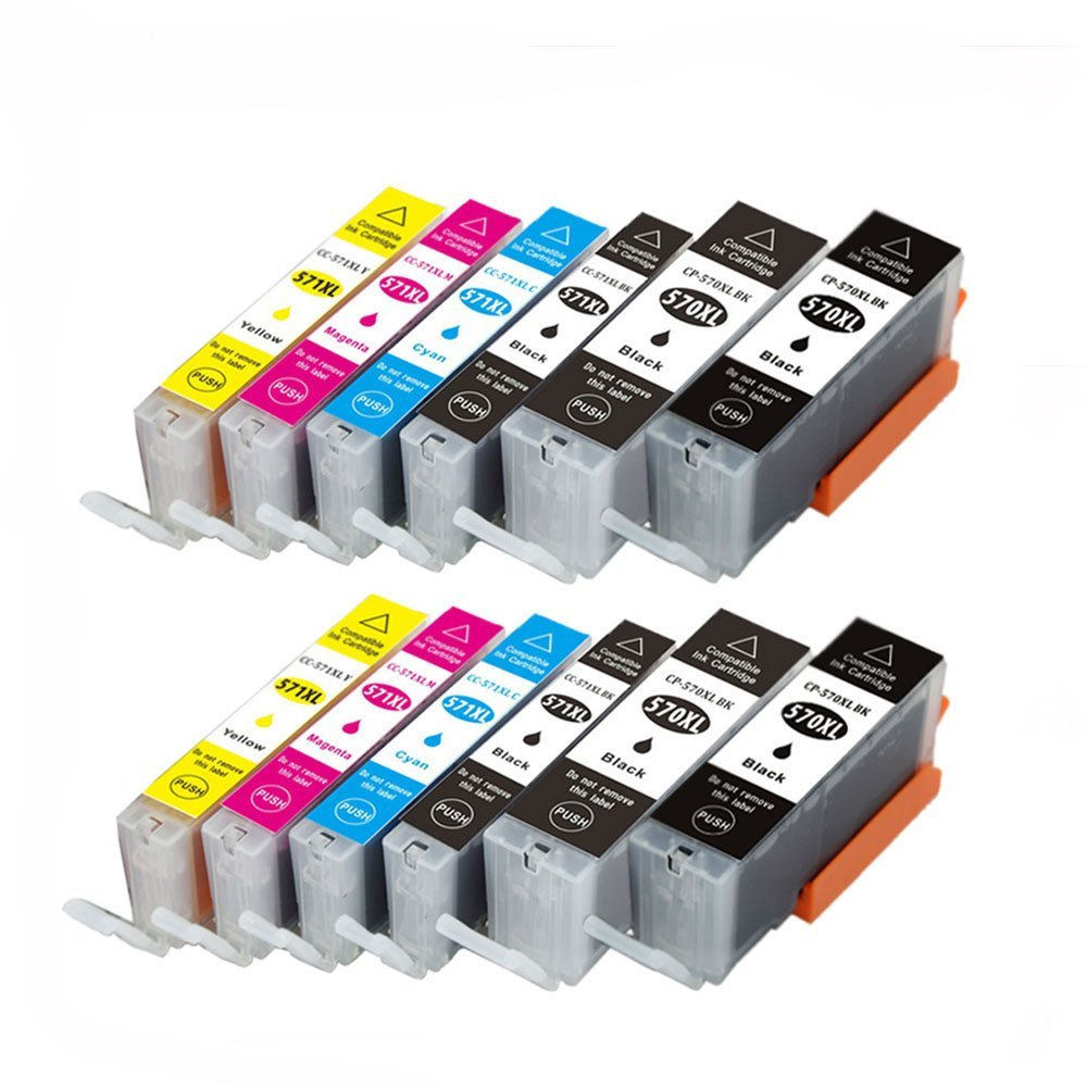 12x Compatible Canon PGI-570XL/CLI-571XL Ink Cartridges