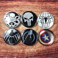 58MM dead pool Captain Amercia Fantastic Four Hydra Iron Man Punisher S.H.I.E.L.D Spider Man The Averngers Winter Soldier  Badge