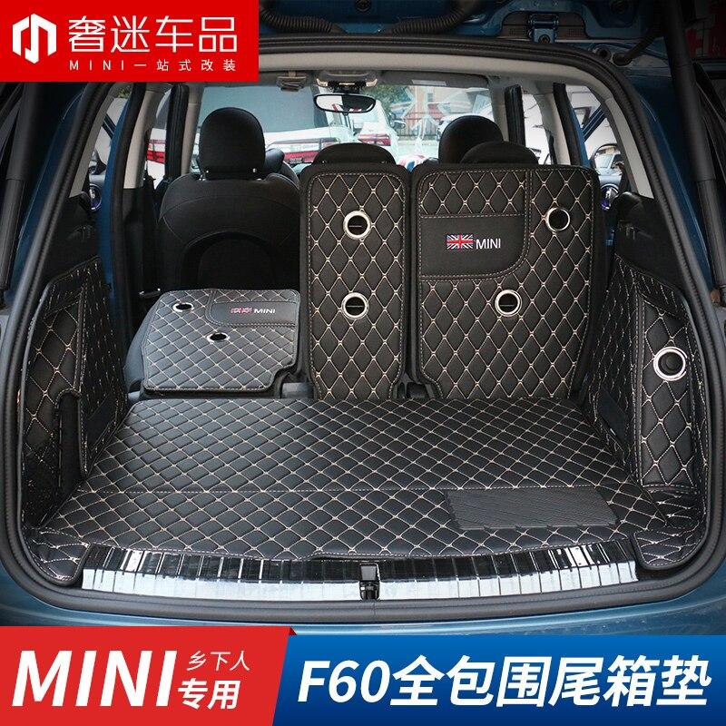 1 uds/4 uds/6 uds estera de maletero de coche alfombra de Auto forro de carga alfombrillas de suelo Interior almohadilla de cuero sólo apto para BMW Mini nuevo Countryman F60