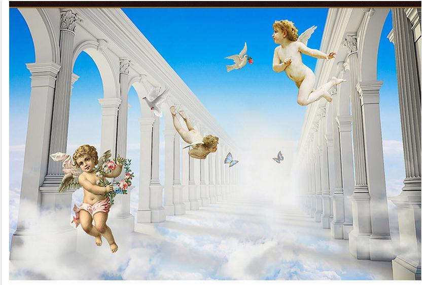 Online get cheap d heaven alibaba group for Angel wall mural