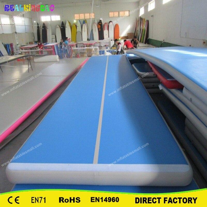 Trampoline gonflable de haute qualité de voie de dégringolade de 5x2x0.2 m de prix usine, tapis de culbutage d'air, voie d'air gonflable à vendre
