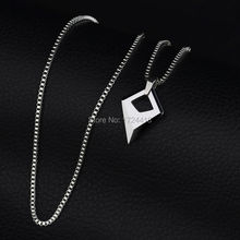 Man jewelry mirron polished tungsten pendant with 20 titanium steel man jewelry mirron polished tungsten pendant with 20 titanium steel necklace high quality male pendant aloadofball