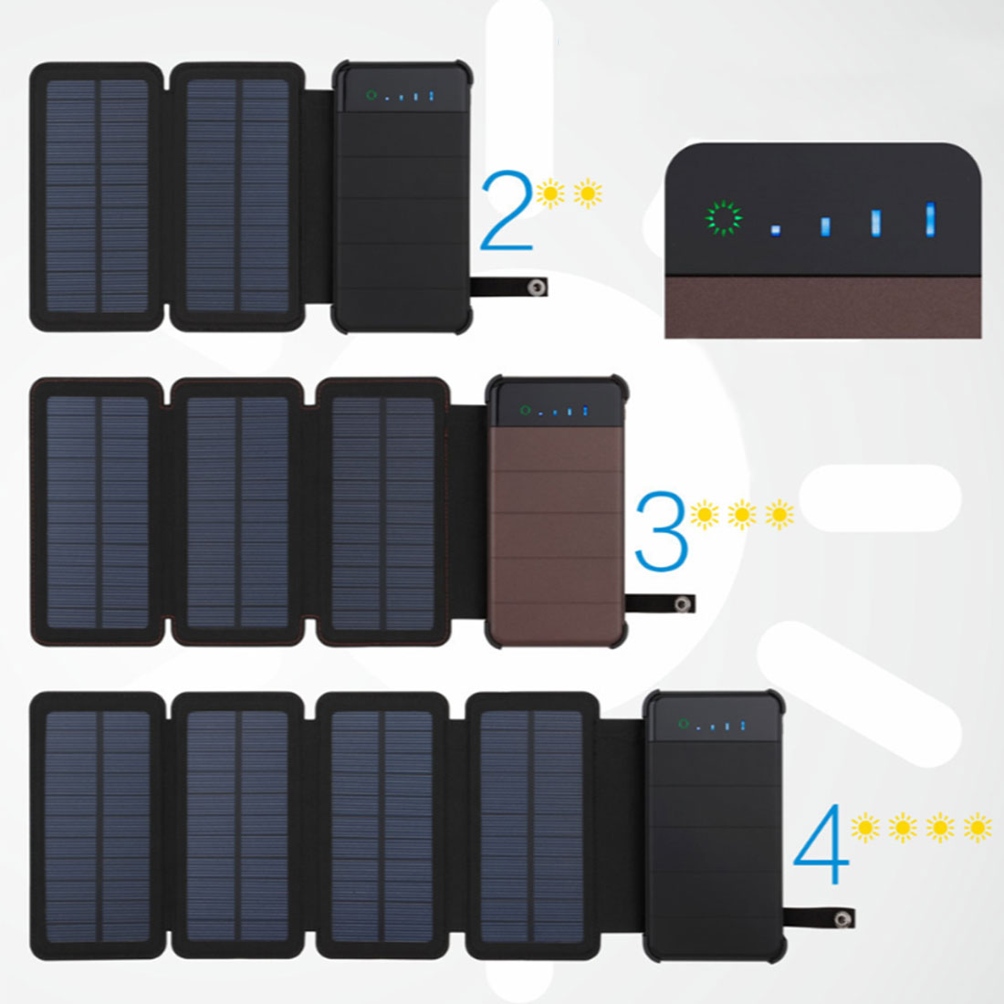 Solar Panel Sun power Battery Power Bank 10000mAh Universal Portable Mobile Phone Power Charger Can Remove External Battery dual usb output universal thunder power bank portable external battery emergency charger 13000mah yb651 yoobao for electronics