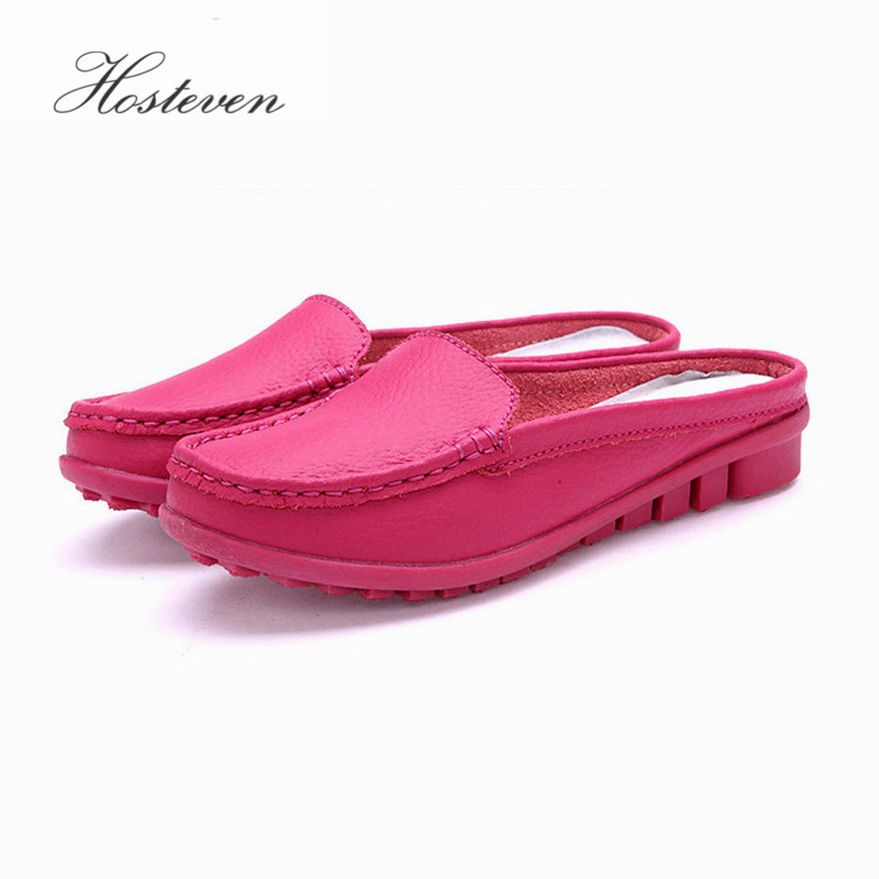 Women's Shoes Casual Genuine Leather Moccasins Ladies Driving Ballet Shoe Woman Loafers Female Flats  Mother Footwear shangmsh genuine leather shoes pointed toe flats 2017 fashion female casual loafers driving shoe ladies moccasins shoes women
