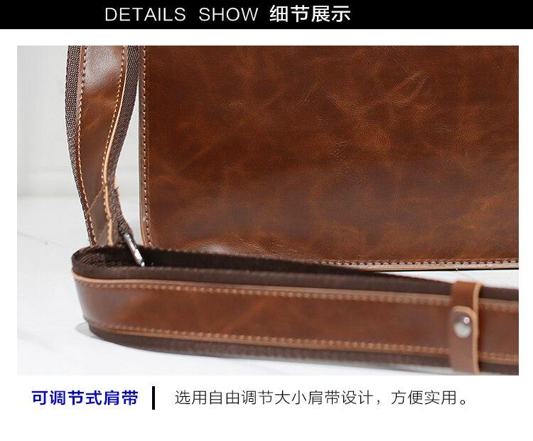 HTB1QAg3oBUSMeJjy1zkq6yWmpXaw Brand Men's Briefcase Handbag Crazy Horse Pu Leather Messenger Travel Bag Business Men Tote Bags Man Casual Crossbody Briefcases