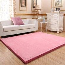 Thick 3CM Tatami Coral Fleece Velvet mat bedroom carpet Mattress Baby playmat Japanese lvingroom bed rug large size Kid mattess