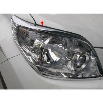Head Light Headlight Cover Trim Fit For Toyota Land Cruiser Prado FJ150 10-2013