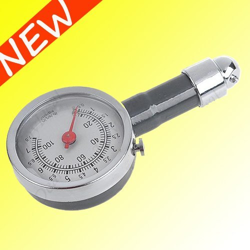 Wholesale FREE SHIPPING  Car Motorcycle Tire Portable Air Pressure Meter Gauge