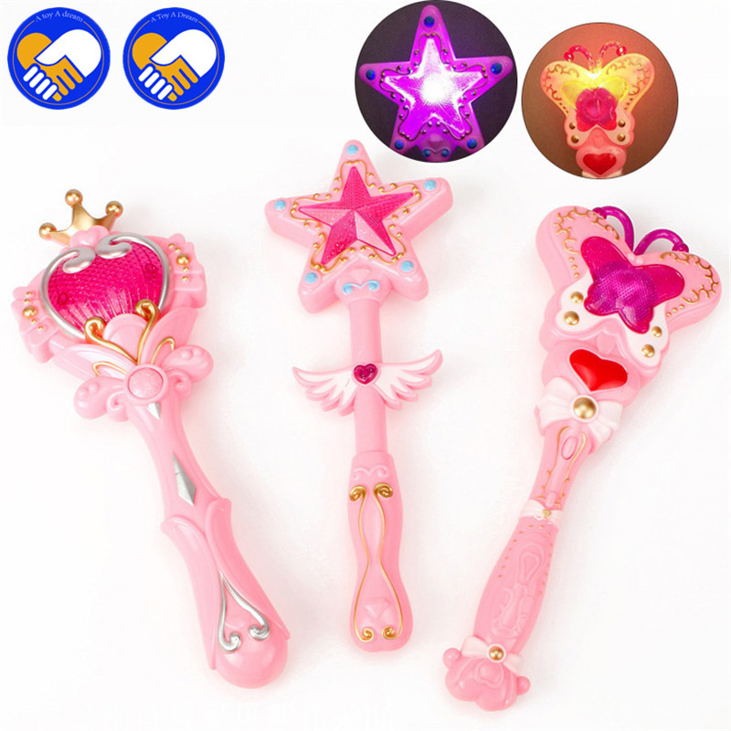 A TOY A DREAM New Girl Toys Anime Cosplay Sailor Moon Wand Henshin Rod Glow Sticks Heart Moon Rod Musical Magic Wand Best Gifts