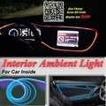 For Chrysler PT Cruiser Car Interior Ambient Light Panel illumination For Car Inside Tuning Cool Strip Light Optic Fiber Band